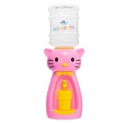 Детский кулер для воды Фунтик Мультик кот Китти розовый с желтым — АкваНяня