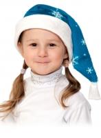Купить Колпаки новогодние плюш синий