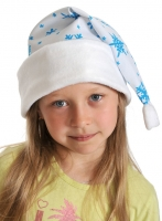 Купить Колпаки новогодние ткань-плюш белый