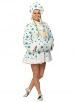Купить Снегурочка белая мини ткань-плюш для взрослых
