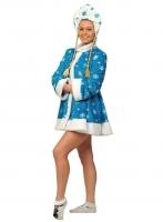 Купить Снегурочка бирюза мини ткань-плюш для взрослых