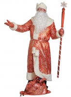 Купить Костюм Дед Мороз для взрослых парча