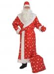 Костюм Дед Мороз для взрослых ткань-плюш