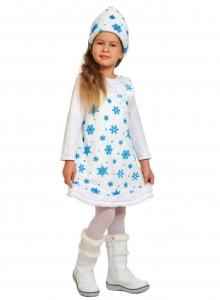 Детский карнавальный костюм из плюша Снежинка