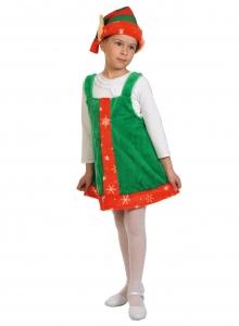 Детский карнавальный костюм из плюша Эльфочка