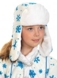 Ушанка новогодняя белая