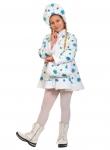 Детский карнавальный костюм Снегурочка плюш