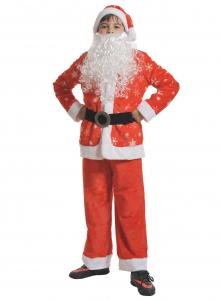 Детский карнавальный костюм Санта Клаус плюш