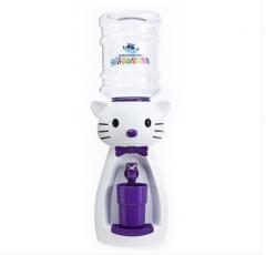 Детский кулер для воды кот Китти белый с фиолетовым— АкваНяня