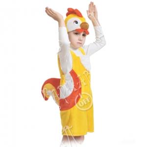 Детский карнавальный костюм из плюша Петушок