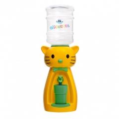 Детский кулер для воды Фунтик Мультик кот Китти желтый с бирюзовым