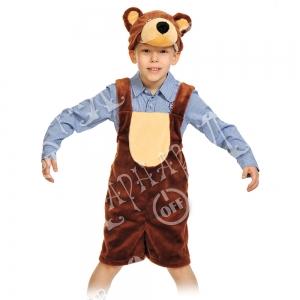 Детский карнавальный костюм из плюша Мишка бурый