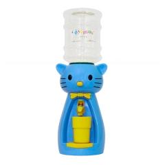 Детский кулер для воды кот Китти голубой с желтым - АкваНяня