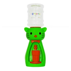Детский кулер для воды кот Китти зеленый с красным - АкваНяня
