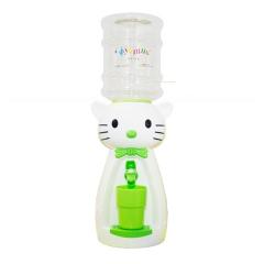 Детский кулер для воды кот Китти белый с салатовым - АкваНяня