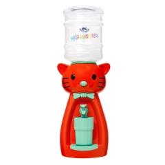 Детский кулер для воды кот Китти оранжевый с бирюзовым — АкваНяня