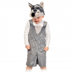 Детский карнавальный костюм из плюша Волчонок
