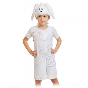Детский карнавальный костюм Зайчик белый
