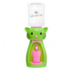 Детский кулер для воды кот Китти салатовый с розовым — АкваНяня
