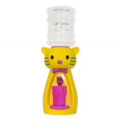 Детский кулер для воды кот Китти желтый с розовым — АкваНяня