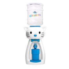Детский кулер для воды кот Китти белый с голубым — АкваНяня