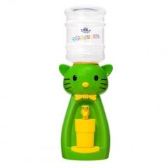 Детский кулер для воды кот Китти салатовый с желтым — АкваНяня