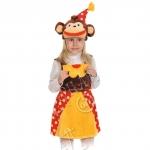 Детский карнавальный костюм из плюша Мартышка из цирка