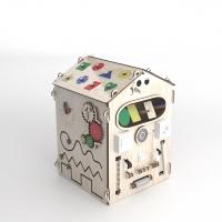 Купить Развивающая игрушка БизиДомик (цвет натуральный)
