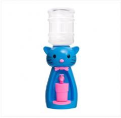 Детский кулер для воды кот Китти голубой с розовым — АкваНяня