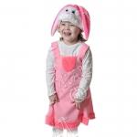 Детский карнавальный костюм Зайка розовая